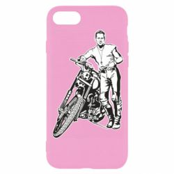 Чехол для iPhone SE 2020 Mickey Rourke and the motorcycle