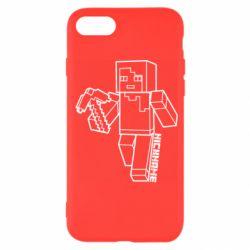 Чехол для iPhone SE 2020 Minecraft and hero nickname
