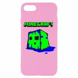 Чохол для iPhone SE 2020 Minecraft Head