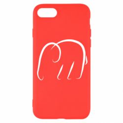 Чехол для iPhone SE 2020 Minimalistic elephant