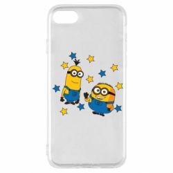 Чохол для iPhone SE 2020 Minions and stars