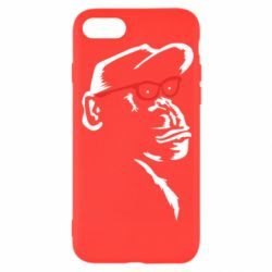 Чохол для iPhone SE 2020 Monkey in red glasses