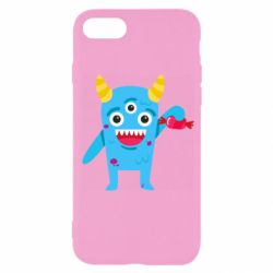 Чехол для iPhone SE 2020 Monster with a candy