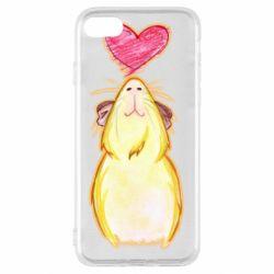 Чохол для iPhone SE 2020 Морська свинка і сердечко