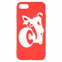 Чехол для iPhone SE 2020 Мотоциклист на спорте