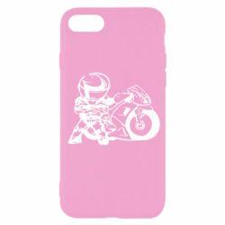 Чехол для iPhone SE 2020 Мотоциклист