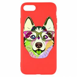 Чохол для iPhone SE 2020 Multi-colored dog with glasses
