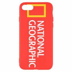 Чехол для iPhone SE 2020 National Geographic logo