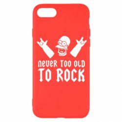 Чехол для iPhone SE 2020 Never old to rock (Gomer)