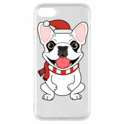 Чехол для iPhone SE 2020 New Year's French Bulldog