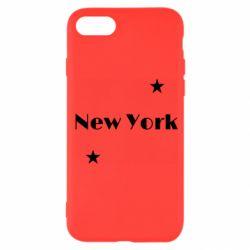 Чехол для iPhone SE 2020 New York and stars