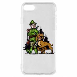 Чохол для iPhone SE 2020 Мисливець з собакою
