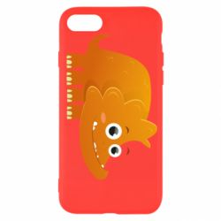 Чехол для iPhone SE 2020 Orange dinosaur
