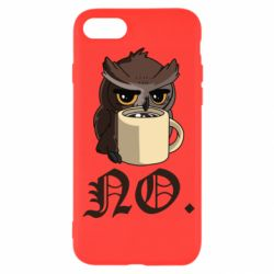 Чехол для iPhone SE 2020 Owl and coffee