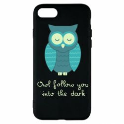 Чехол для iPhone SE 2020 Owl follow you into the dark