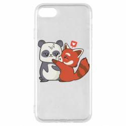 Чохол для iPhone SE 2020 Panda and fire panda