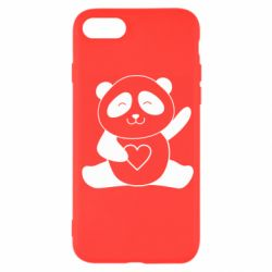 Чохол для iPhone SE 2020 Panda and heart