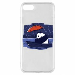 Чехол для iPhone SE 2020 Panda and rain