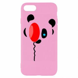 Чехол для iPhone SE 2020 Panda and red balloon