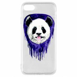 Чехол для iPhone SE 2020 Panda on a watercolor stain