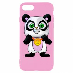 Чехол для iPhone SE 2020 Panda with a medal on his chest
