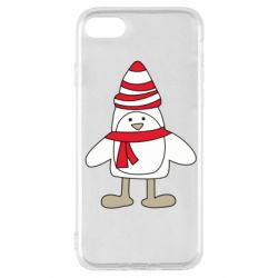 Чехол для iPhone SE 2020 Penguin in the hat and scarf