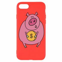 Чохол для iPhone SE 2020 Pig and $