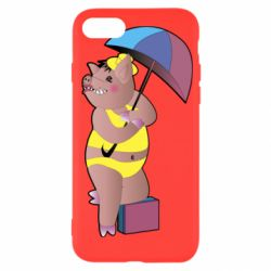 Чохол для iPhone SE 2020 Pig with umbrella