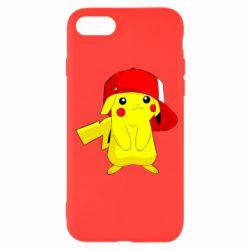 Чехол для iPhone SE 2020 Pikachu in a cap