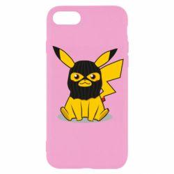 Чехол для iPhone SE 2020 Pikachu in balaclava