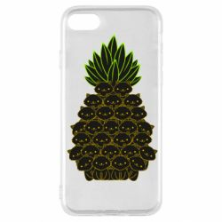 Чехол для iPhone SE 2020 Pineapple cat