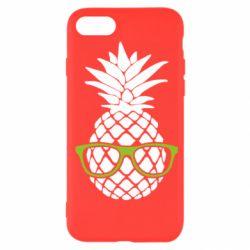Чехол для iPhone SE 2020 Pineapple with glasses
