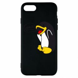 Чехол для iPhone SE 2020 Пингвин Линукс