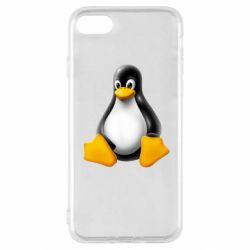 Чохол для iPhone SE 2020 Пингвин Linux