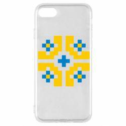 Чехол для iPhone SE 2020 Pixel pattern blue and yellow