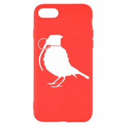 Чехол для iPhone SE 2020 Птичка с гранатой