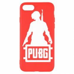 Чехол для iPhone SE 2020 PUBG logo and hero