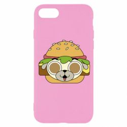Чохол для iPhone SE 2020 Pug Hamburger