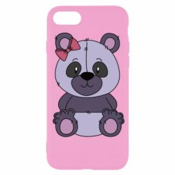 Чохол для iPhone SE 2020 Purple Teddy Bear