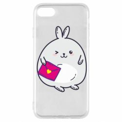 Чехол для iPhone SE 2020 Rabbit with a letter