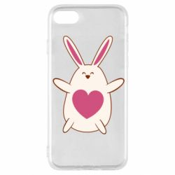 Чехол для iPhone SE 2020 Rabbit with a pink heart