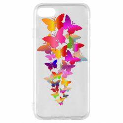 Чохол для iPhone SE 2020 Rainbow butterflies
