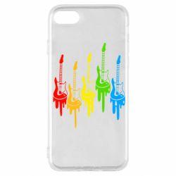 Чехол для iPhone SE 2020 Разноцветные гитары