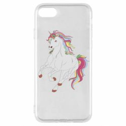 Чехол для iPhone SE 2020 Red eye unicorn