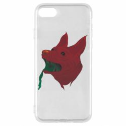 Чехол для iPhone SE 2020 Red zombie dog