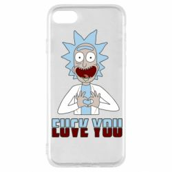 Чохол для iPhone SE 2020 Rick and Morty fack and love you