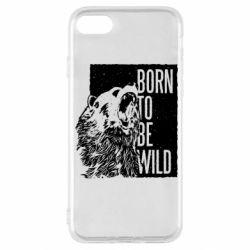 Чехол для iPhone SE 2020 Рожден Быть Диким Медведь