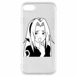 Чехол для iPhone SE 2020 Sakura girl