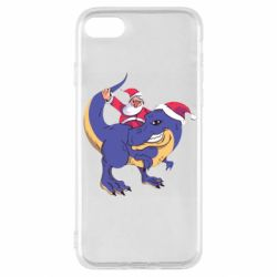 Чехол для iPhone SE 2020 Santa and T-Rex
