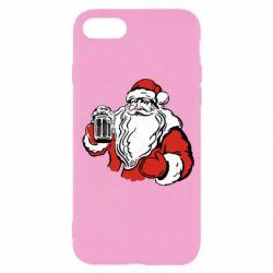 Чехол для iPhone SE 2020 Santa Claus with beer